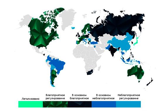 Освоение криптовалюты в мире