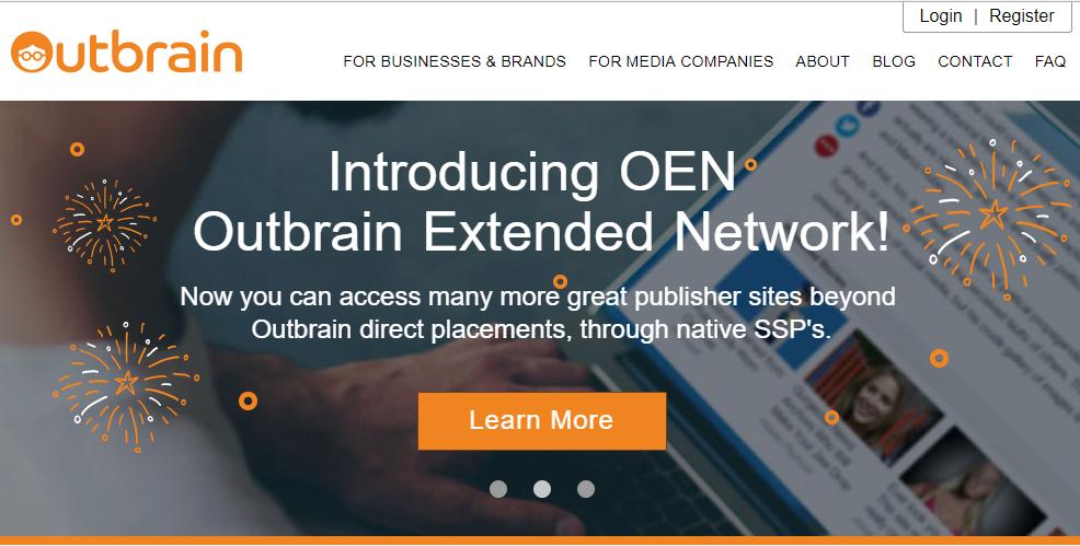 Outbrain имеет статус одной из первых рекламных сетей в мире