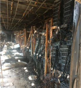 Майнинг ферма в Таиланде после пожара. Состояние внутри