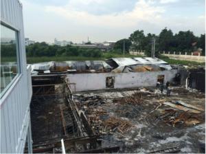 Майнинг ферма в Таиланде после пожара. Вид сверху