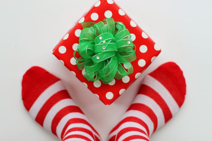 Новогодние подарки. Набор рождественских символов